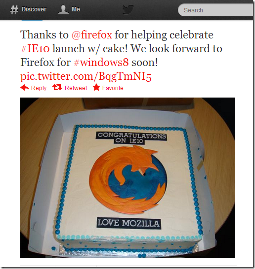 Twitter - IE- Thanks to @firefox for helping ...